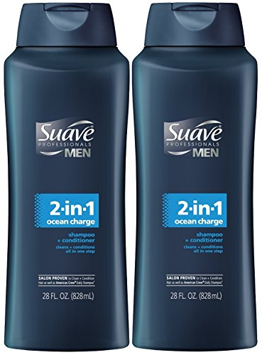 Suave Professionals Mens, 2-in-1 Shampoo & Conditioner, Ocean Charge, 28 Oz (Pack of 2) (Suave Men Shampoo And Conditioner compare prices)