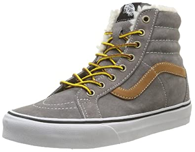 Vans U Sk8-Hi Reissue, Baskets mode mixte adulte - Gris (Pigsuedefleece), 35 EU (040 / 4 US)
