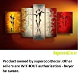 Love - Shall we dance - Modern Abstract Oil Painting on Canvas Stretched-Framed - Return shipping covered for continental US regions