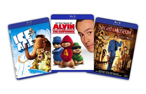 Blu-ray Kids and Family Bundle (Ice Age / Alvin and the Chipmunks /Night at the Museum) - (Amazon.com Exclusive)
