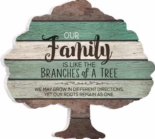 P. Graham Dunn ''Our Family'' 12.25'' x 13'' x .05'' Family Tree Wood Sign