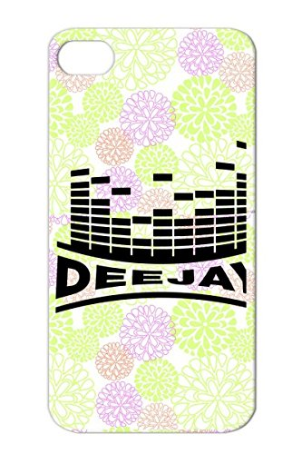 Durable Music Music Miscellaneous Disco Deejay Best Club Party Clubbing Dj Protective Hard Case For Iphone 4 Black Beat Sound F1
