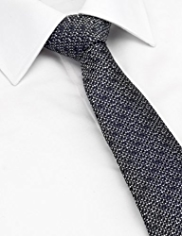 Longer Length Autograph Pure Silk Textured Tie