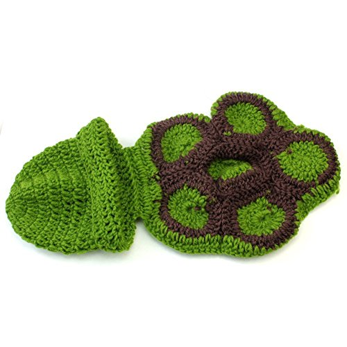 ToJoy Baby Newborn Boy Girl Turtle Tortoise Crochet Cotton Knit Costume Photo