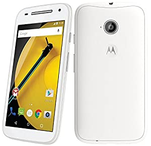 Motorola Moto E XT1521 (2nd Generation) Unlocked DUAL SIM 8GB Factory Unlocked 4G Phone - (International Version - No Warranty) - White