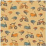 Karen Foster Design Scrapbooking Paper, 25 Sheets, Wheels and Wagons, 12 x 12