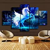 5PCS Horse Modern Wall Art Oil Painting Canvas Print Home Decoration