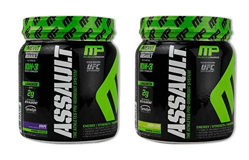 MusclePharm Assault Grape 30 serv/Lemon Lime 30 serv(1 of each) (Muscle Pharm Assault Grape compare prices)