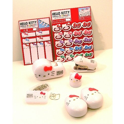 Hello Kitty Design Stationery Sets (8 Items)