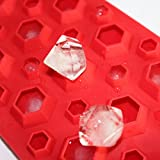 X-Haibei 3d Diamonds Gem Cool Ice Cube Chocolate Soap Tray Mold Silicone Party Maker