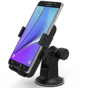 iOttie Easy One Touch XL Windshield Dashboard Car Mount Holder for iPhone 6 Plus (5.5), Galaxy S6 Edge Plus S5 S4, Note 5 4 3 , LG G4