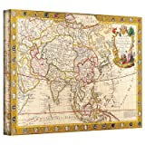 "Antique Maps 'Map of Asia' Gallery-Wrapped Canvas Wall Art Size: 12"" x 18"""