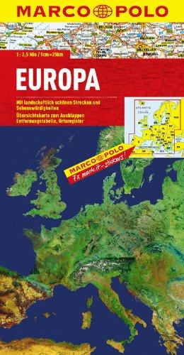 MARCO POLO Länderkarte Europa physisch 1:2,5 Mio., Buch