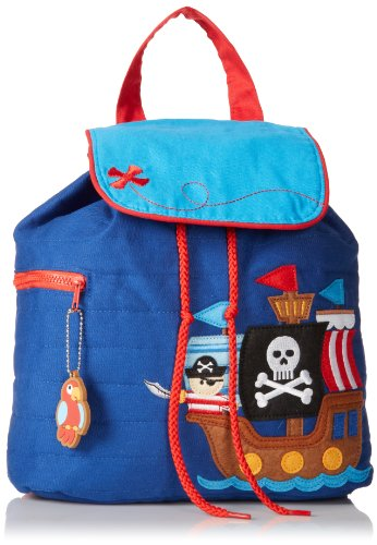 Stephen Joseph Little Boys' Quilted Backpack, Pirate, One Size