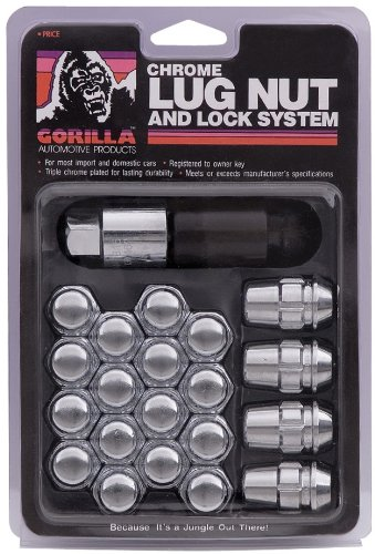 51K0nsb wtL Gorilla Automotive 91743 Acorn Bulge Chrome Lug Nut and Lock