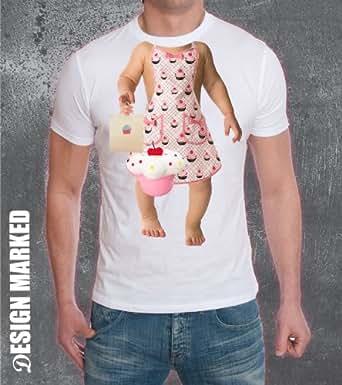 mfg. baby body tv advert headless cup cake baby shirt (large)