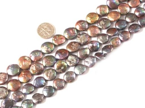 sweet-happy-girls-store-11-12mm-coin-brownish-black-freshwater-cultured-pearl-beads-strand-15-jewelr