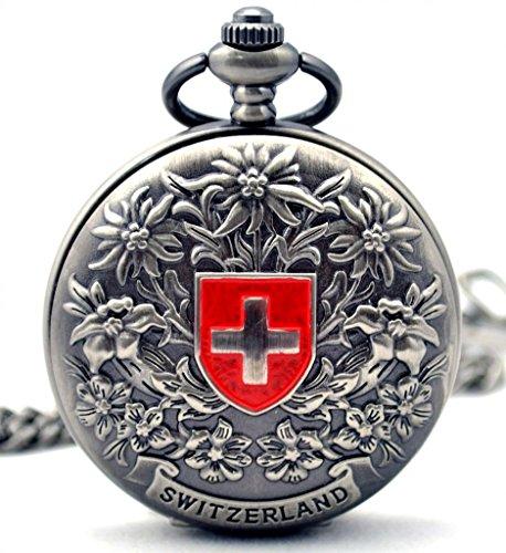 Unendlich-U-Retro-Handaufzug-Mechanische-Taschenuhr-Schweizerisches-Kreuz-Hohle-Skelett-Kettenuhr-Pullover-Halskette-Grau