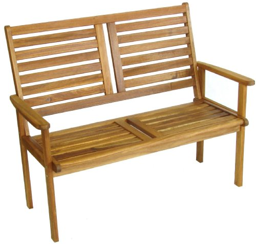 Napoli 2 Seater Bench Wood Garden Furniture - FREE UK Mainland DELIVERY
