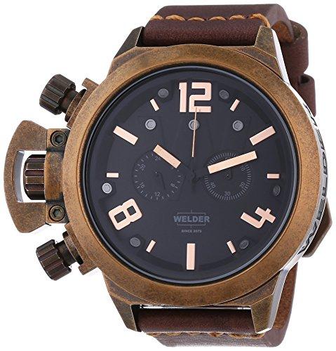 Welder - Orologio da polso, cronografo al quarzo, pelle, Unisex