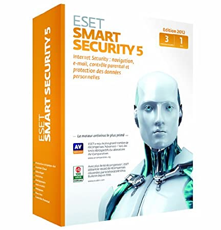 Eset Smart Security 5 (3 postes, 1 an)