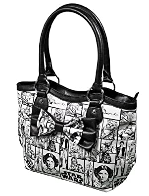 Star Wars Womens Checker Handbag Purse with Bow