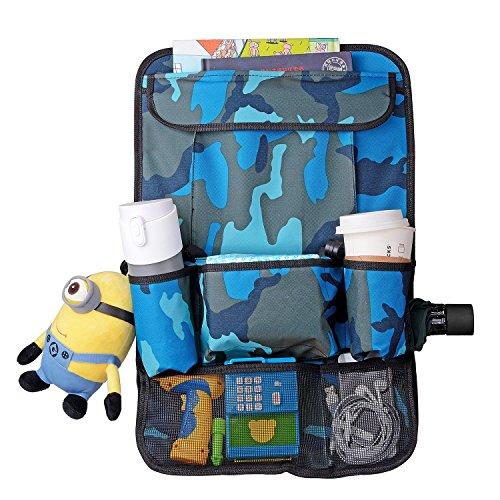 Creation® auto sedile posteriore dell'organizzatore, multi-tasca borsa da viaggio bagagli, sacchetto di rifiuti per i giocattoli, snack, lattine, le bevande(Camouflage Blue)