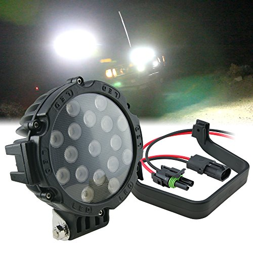 51W Led Off Road Work Light Lamp - Round Flood (Spot Variation Available)