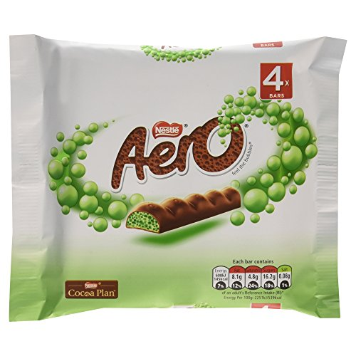 Aero Mint Chocolate Bubbly Bar 4 x 27g Pack - 3.8oz (British Chocolate) (The British Grocery compare prices)