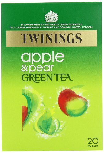 Twinings Green Tea with Apple and Pear 20 Teabags (Pack of 8,Total 160 Teabags)