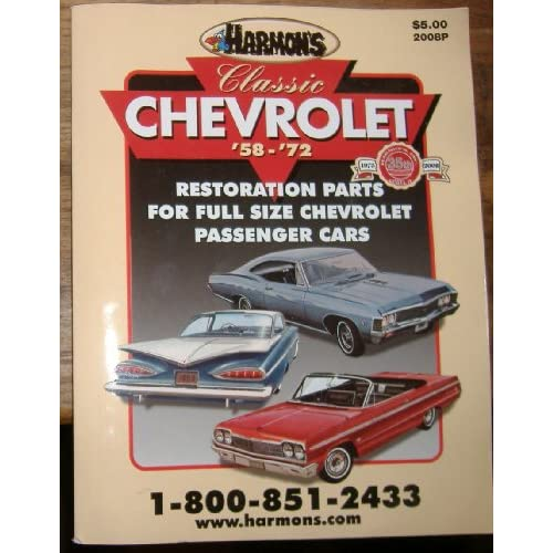 classic chevrolet restoration parts 39 58 39 72 harmon 39 s. Cars Review. Best American Auto & Cars Review