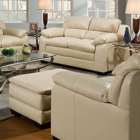 Simmons Upholstery 5066_Loveseat Soho Loveseat Color: Soho Natural Bonded Leather Match