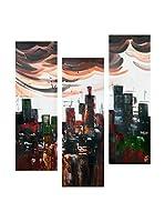 Arte Dal Mondo Set Lienzo 3 Uds. Edgar Ramirez Città Astratta