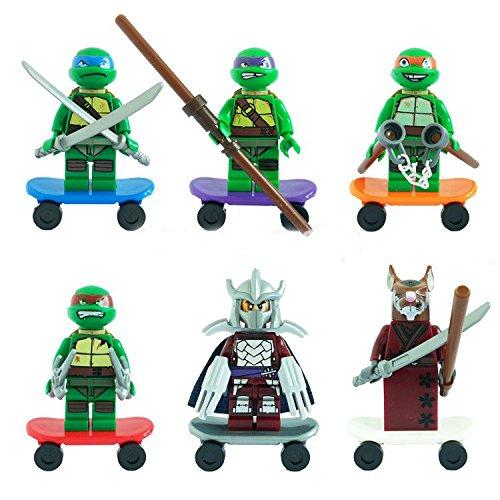 6pcs/lot TMNT FiguresHeroes Minifigures Mini Block Educational Toys DIY Building Blocks Brinks