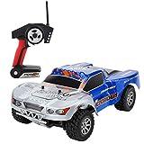 Metakoo RC Coche y Camión 100M de control remoto de coches 4WD de alta velocidad 70km/h vehículo 1:18 Escala rápido de carreras de camiones de 2,4 GHz eléctrico Buggy Hobby Coche-Azul