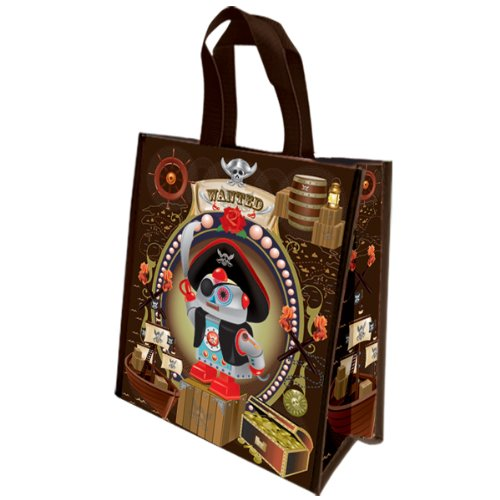 Coelacanth Shopping Bag, Pirate Robot front-187929