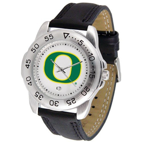 Oregon Ducks Men&#8217;s Game Day Sport Leather Watch
