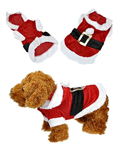 Yoption Pet Puppy Dog Christmas Clothes Santa Claus Costume Outwear Coat Apparel Hoodie (L) by Smartbargain