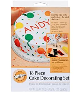 Amazon.com: Wilton 18pc Starter Cake Decorating Set: Cake ...