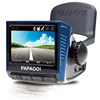 「国内正規販売品」「安心日本語対応」PAPAGO(パパゴ)ドライブレコーダー 前方衝突警報 車線逸脱警報 ブルー GoSafe P3 BL P3-BL-32G