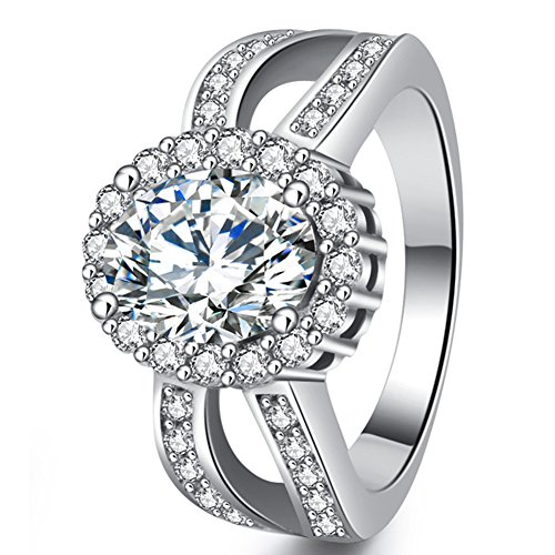 Best Promise Rings for Her Women's Eternity Wedding Engagement Rings Vintage Ciss Cross Solitaire Style Fashion Jewelry for Christmas Gift Size 10 (Brother Ciss compare prices)