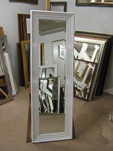 3 modern glossy shiny white framed long and full length for White framed full length mirror