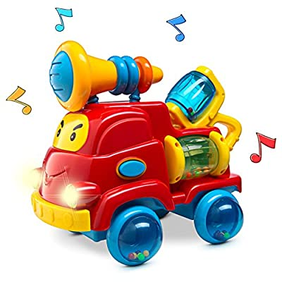 Prextex Christmas Toy Gift Pull Apart Rattle Truck Toy for Baby with Lights and Music Best Christmas Gift by Prextex that we recomend individually.