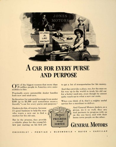 1941 Ad Gm General Motors Automobile Dealer Used Cars - Original Print Ad