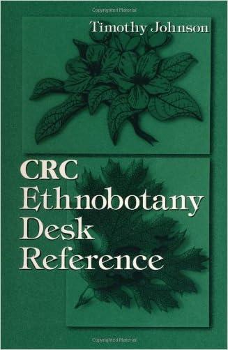 CRC Ethnobotany Desk Reference written by Tim Johnson