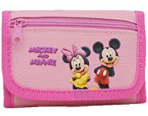Disney Pink Trifold Mickey and Minnie Wallet - Minnie and Mickey Wallet