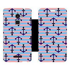 Skintice Designer Flip Cover with Vinyl wrap-around for Coolpad Note 3 Lite, Design - Anchors