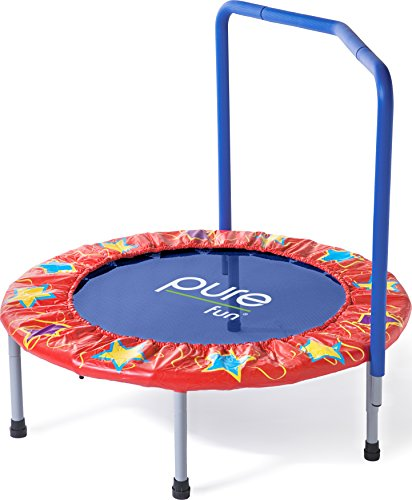 Pure-Fun-Kids-36-Mini-Trampoline-with-Handrail-Youth-Ages-3-to-8