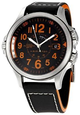 Hamilton Men's H77695733 Khaki GMT Brown Dial Watch
