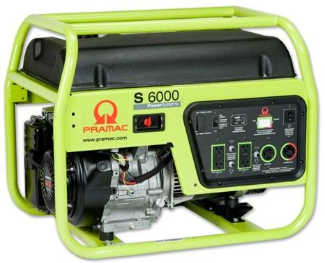 Pramac Portable Generator - 6000 Surge Watts, 5300 Rated Watts, Model# S6000